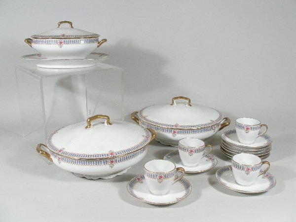 3009: Limoges China Set, 16 Pieces,