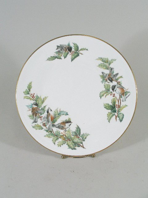 """3016: Boehm Collector's Porcelain Plate, """"Chickadees &"""