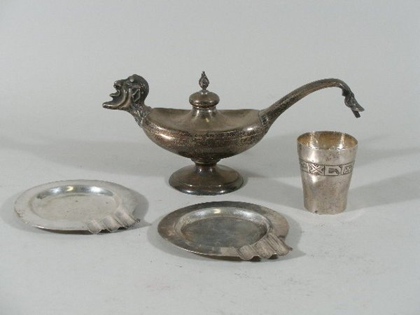 3021: Group of Four Sterling Table Articles,