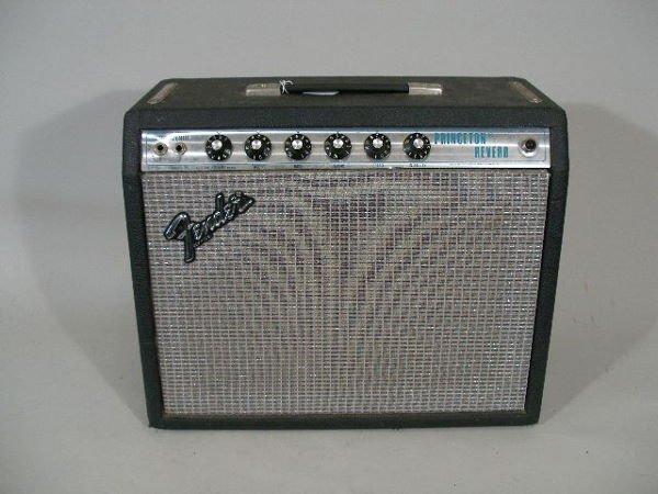 1004: Vintage Fender Princeton Reverb Tube Amp, 1970s,
