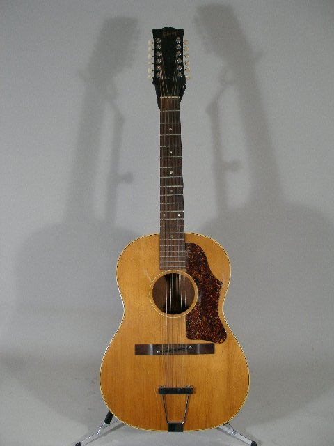 1007: Gibson B-25-12-N, 12 String Flat Top Guitar, c. m