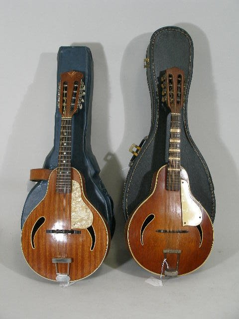 1024: Pair of Hoffner A-Style Mandolins, c. 1960s,