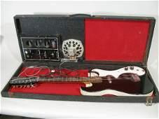 1032 Vintage Silvertone AmpinCase Electric Guitar c
