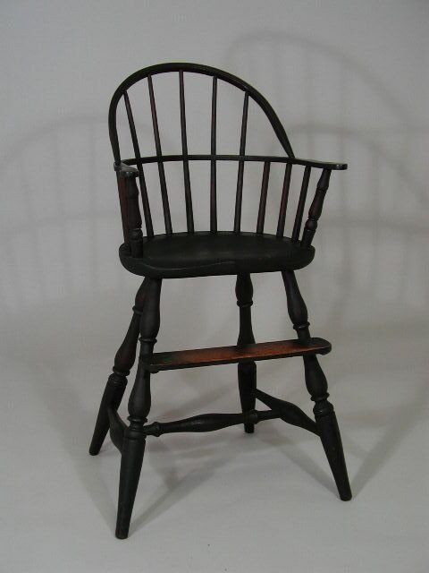 18: American late 19th c. Windsor Child's High Chair,