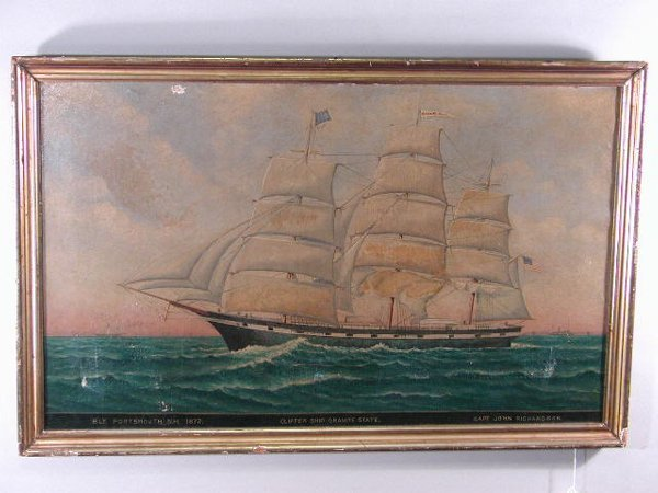 21: Oil on Canvas, by C. Jenson, Portsmouth NH 1872,