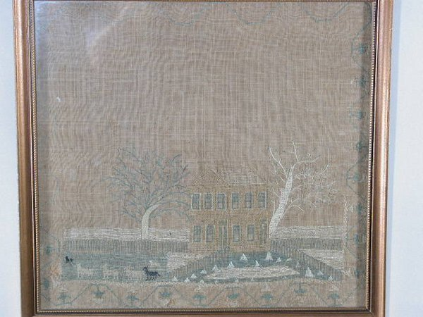23: Southern 19th c. Sampler,