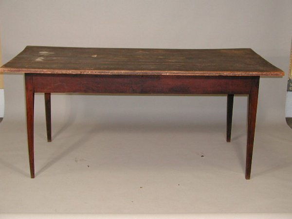 24: NC c. 1810 Paint Decorated Farm Table,