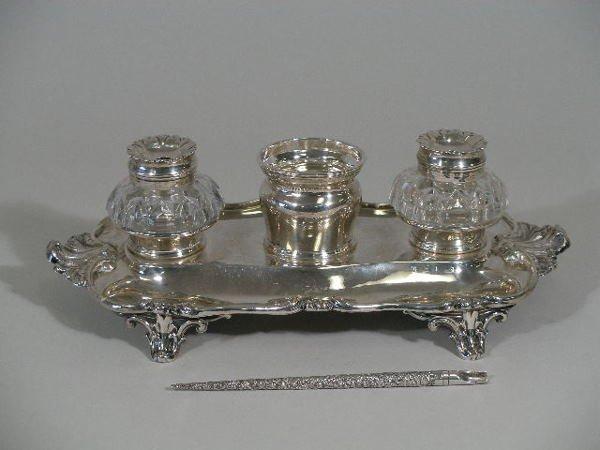 15: Silver Inkstand, 1839, Sheffield,