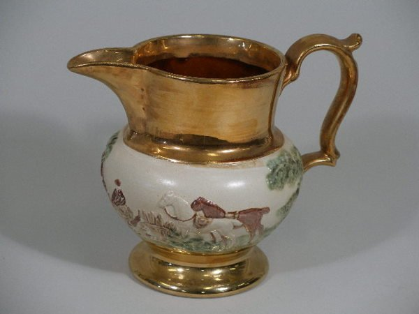 18: Copper Luster Pitcher, England, 1920's,