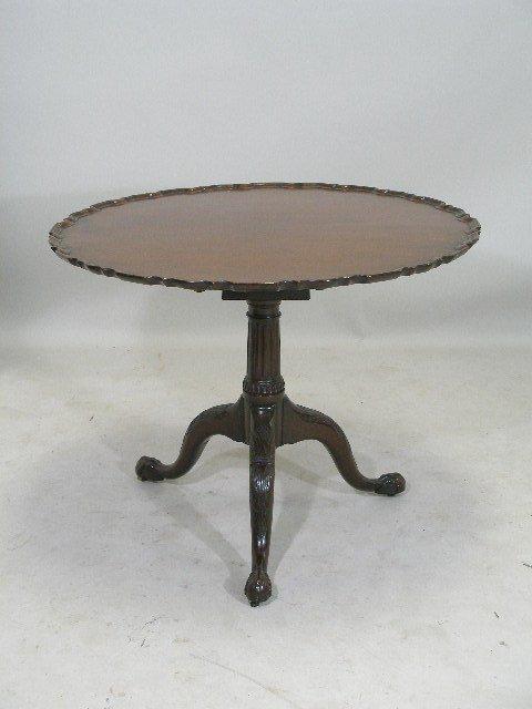 74: George III Tea Table, Tilt Top,