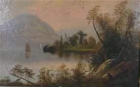 92: Hudson River School Landscape, 19th c.,