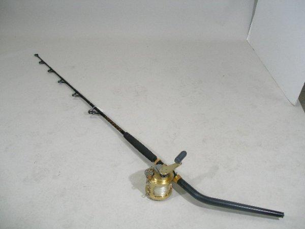 2: Fin-Nor 9A Deep Sea Brass Reel Serial #9A610 w/Bent