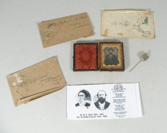 13A: ID'd NC Confederate 1/9 Plate Cased Ambrotype