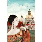 Stephen White NC b 1939 Woman in Renaissance