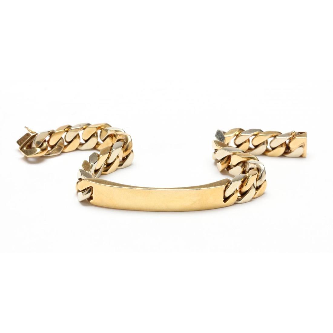 18KT Two Tone Gold ID Bracelet, Bulgari