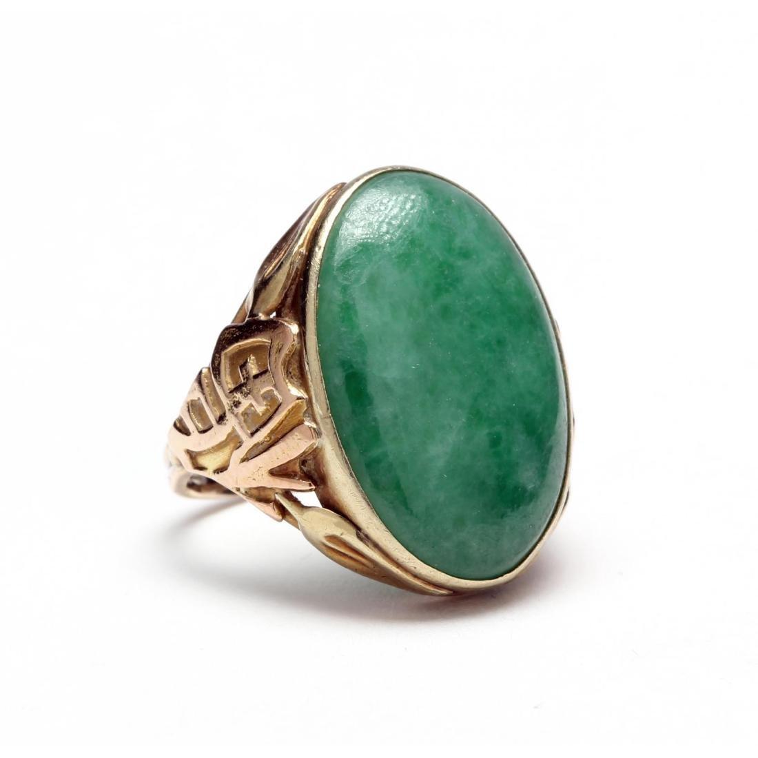 Vintage 14KT Jade Ring