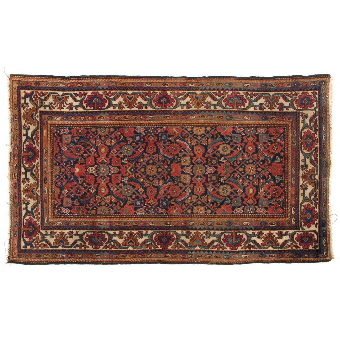 Semi Antique Persian Kurdish Area Rug