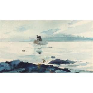 "Andrew Wyeth (PA/ME, 1917-2009), ""Gray Light"""