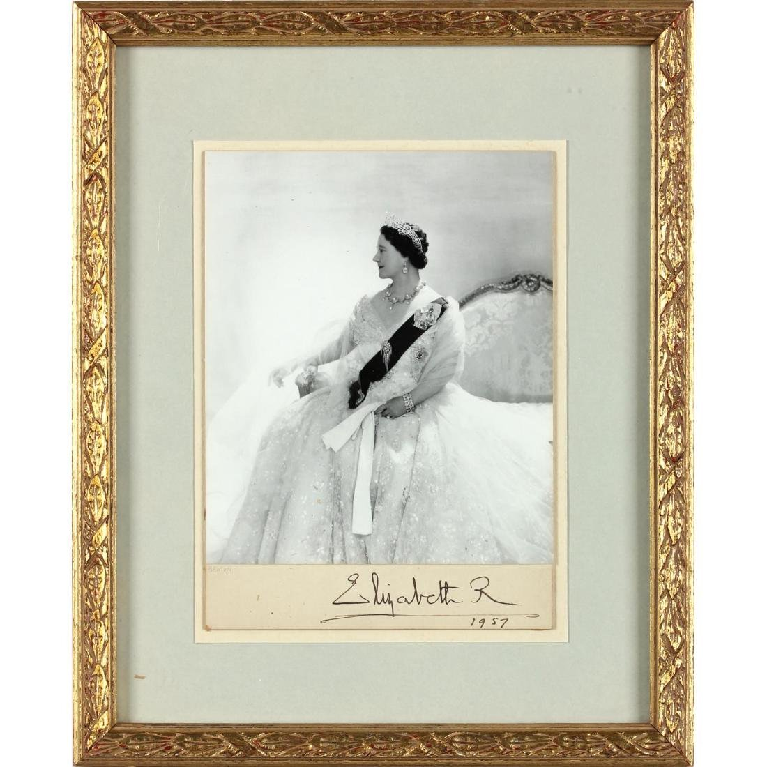 Queen Mother Signed Photo by Cecil Beaton