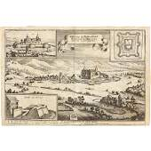 17th Century Copperplate Engraving of German Siege