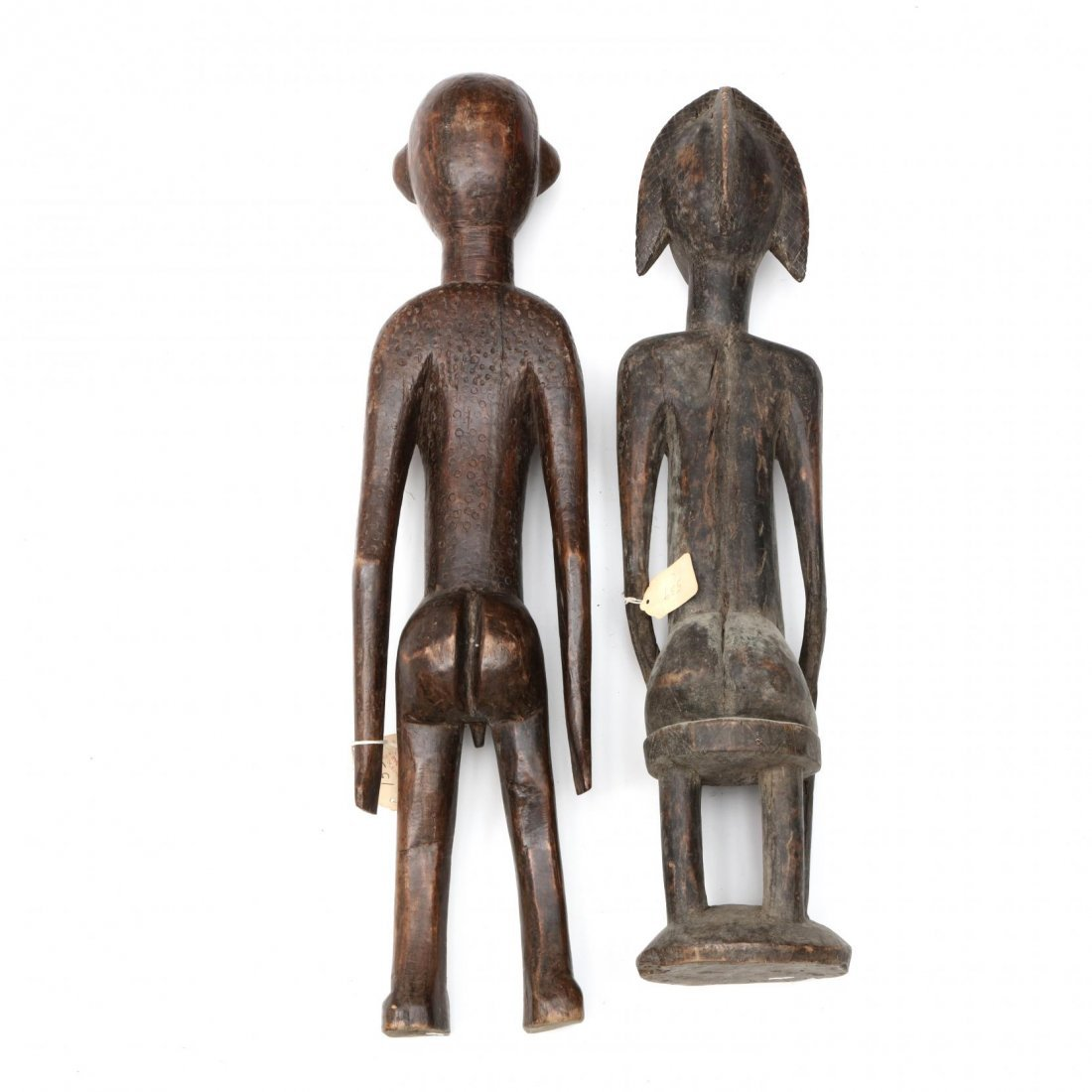 Two Bambara Carved Wooden Figures - 3