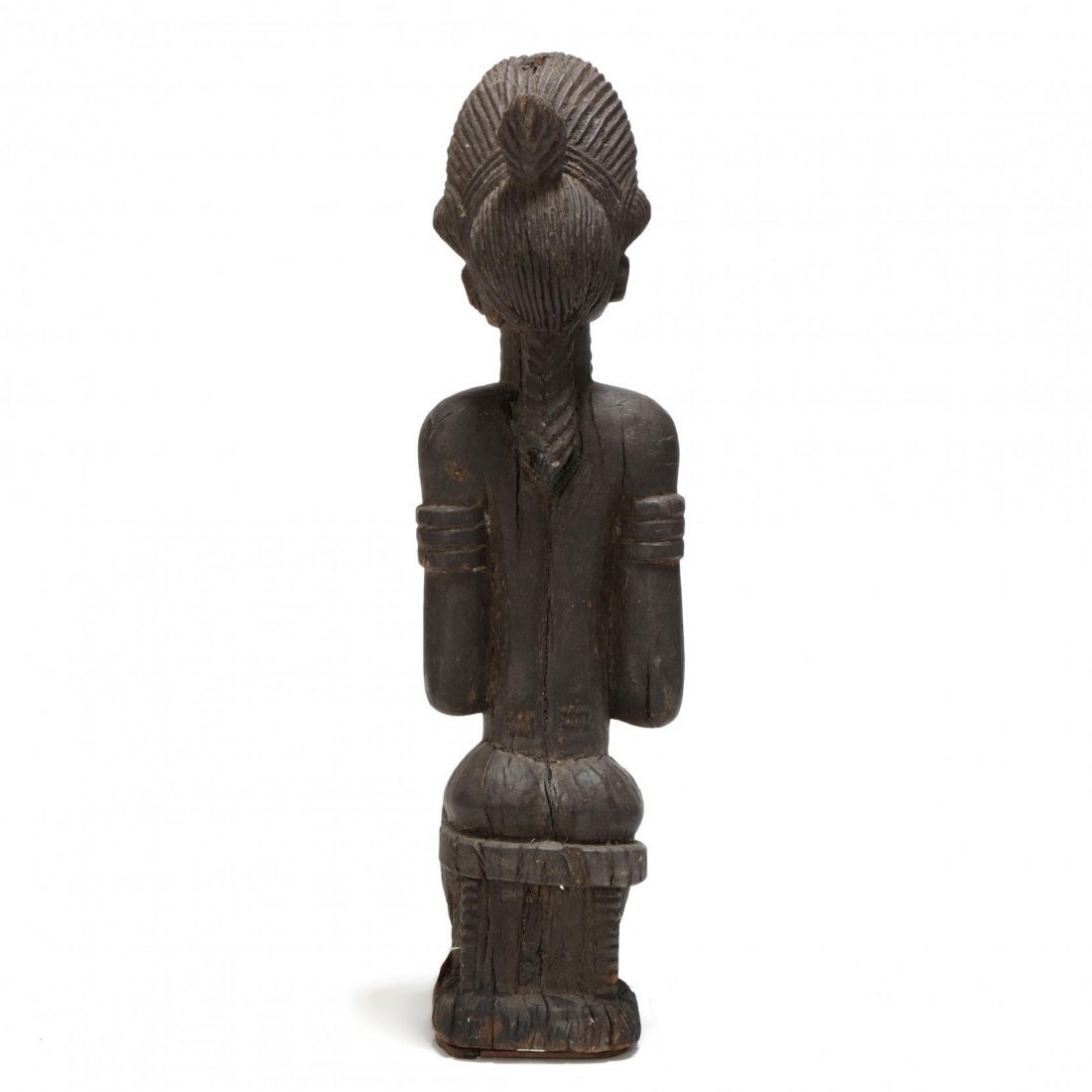 Ivory Coast, Early Baule Figure of a Seated Female - 3