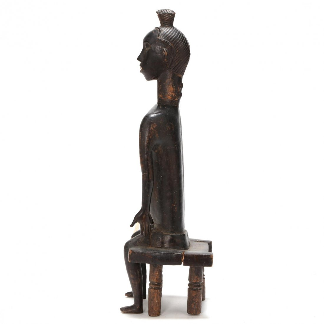 Ivory Coast, Baule Guro Seated Figure - 4