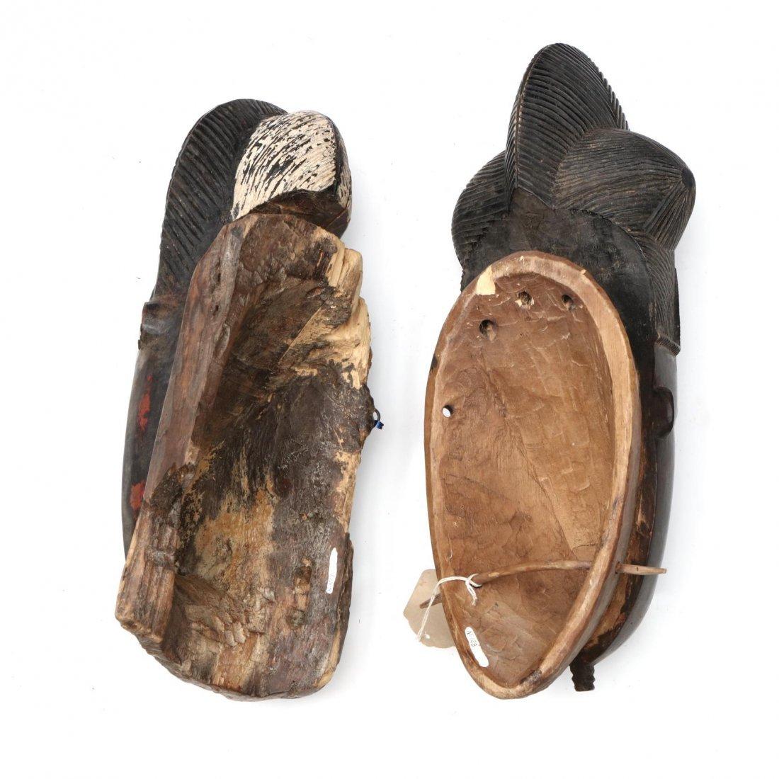 Two Painted Ivory Coast Baule Guro Masks - 3