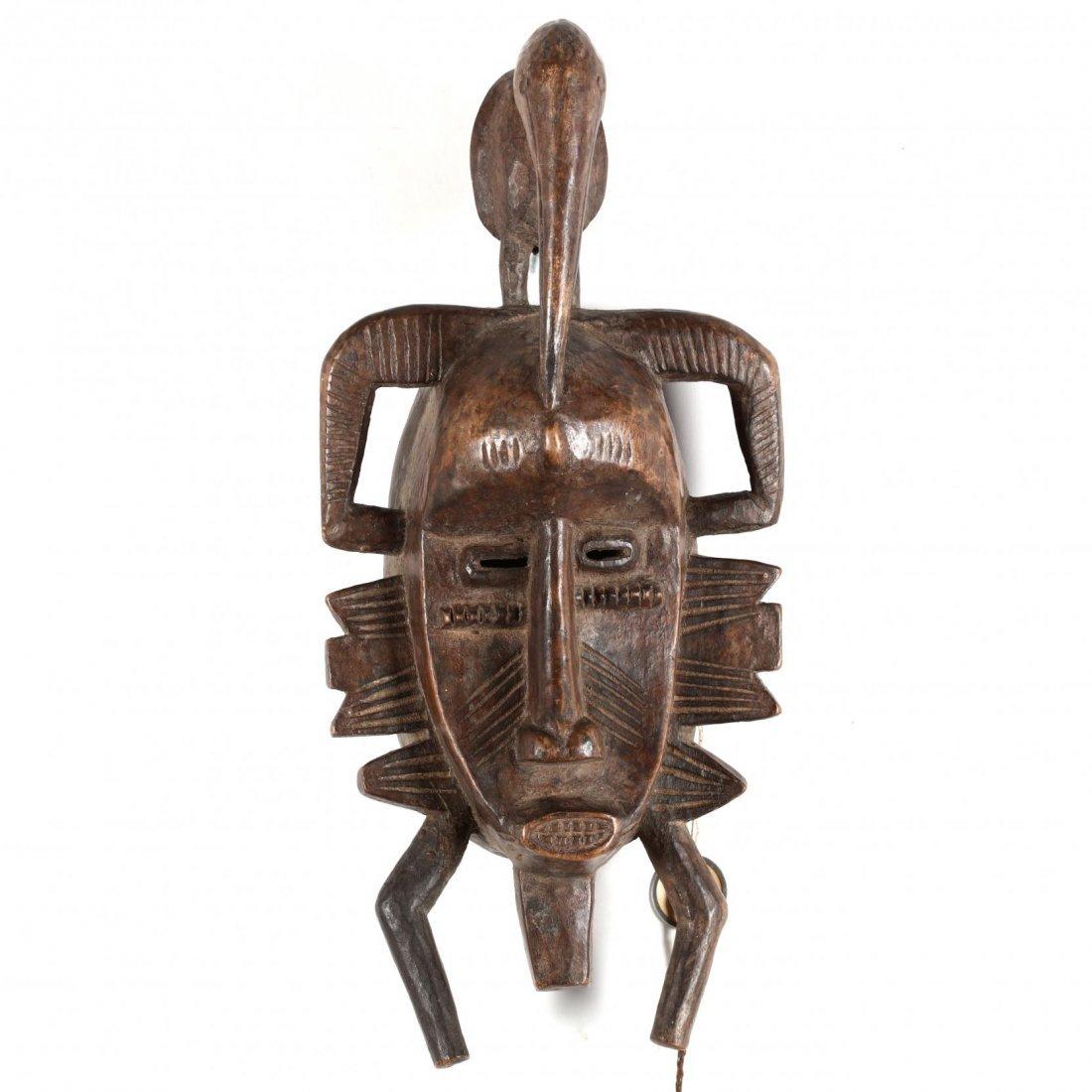 Ivory Coast, Two Senufo Kpelie Masks - 2
