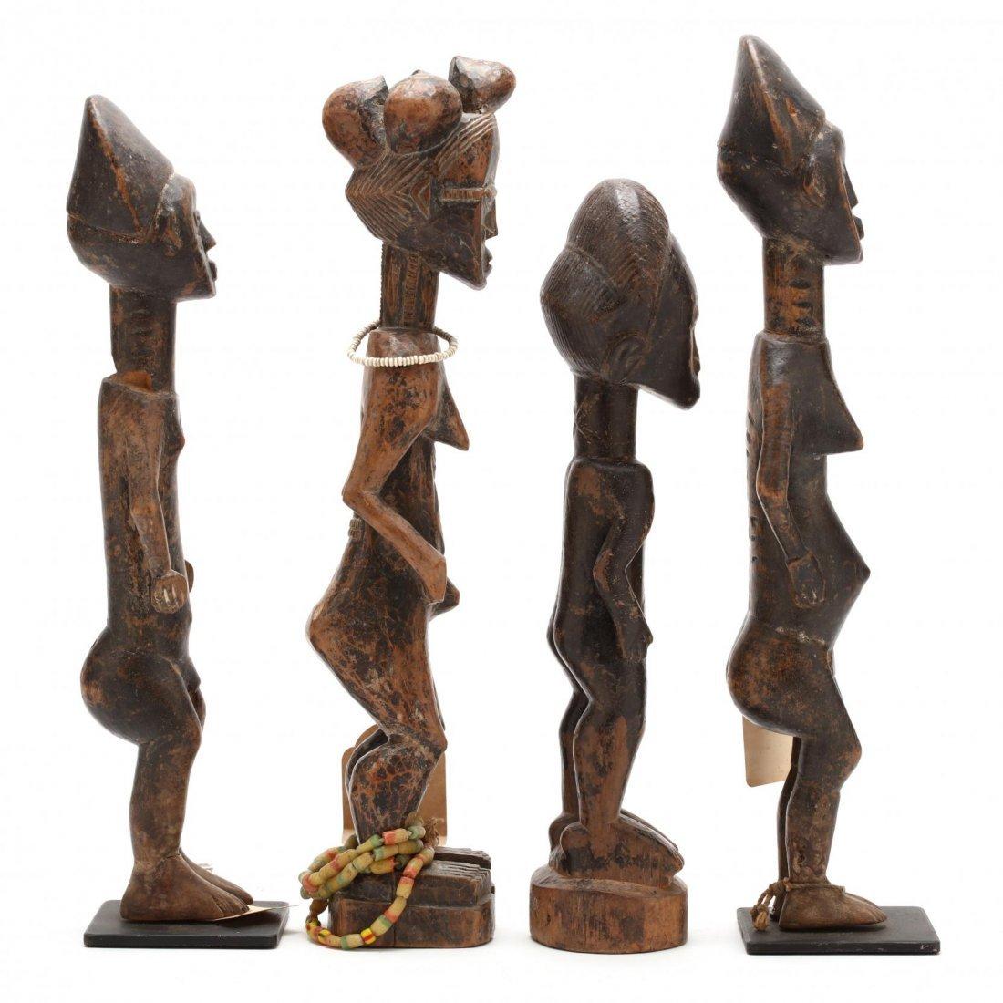 Ivory Coast or Ghana, Four Abron Ancestral Figures - 2
