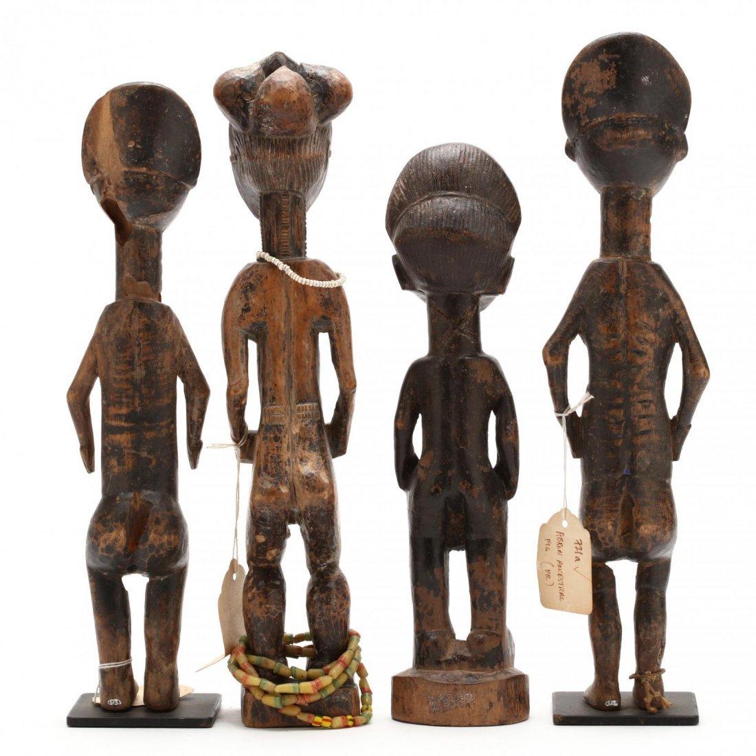 Ivory Coast or Ghana, Four Abron Ancestral Figures - 3