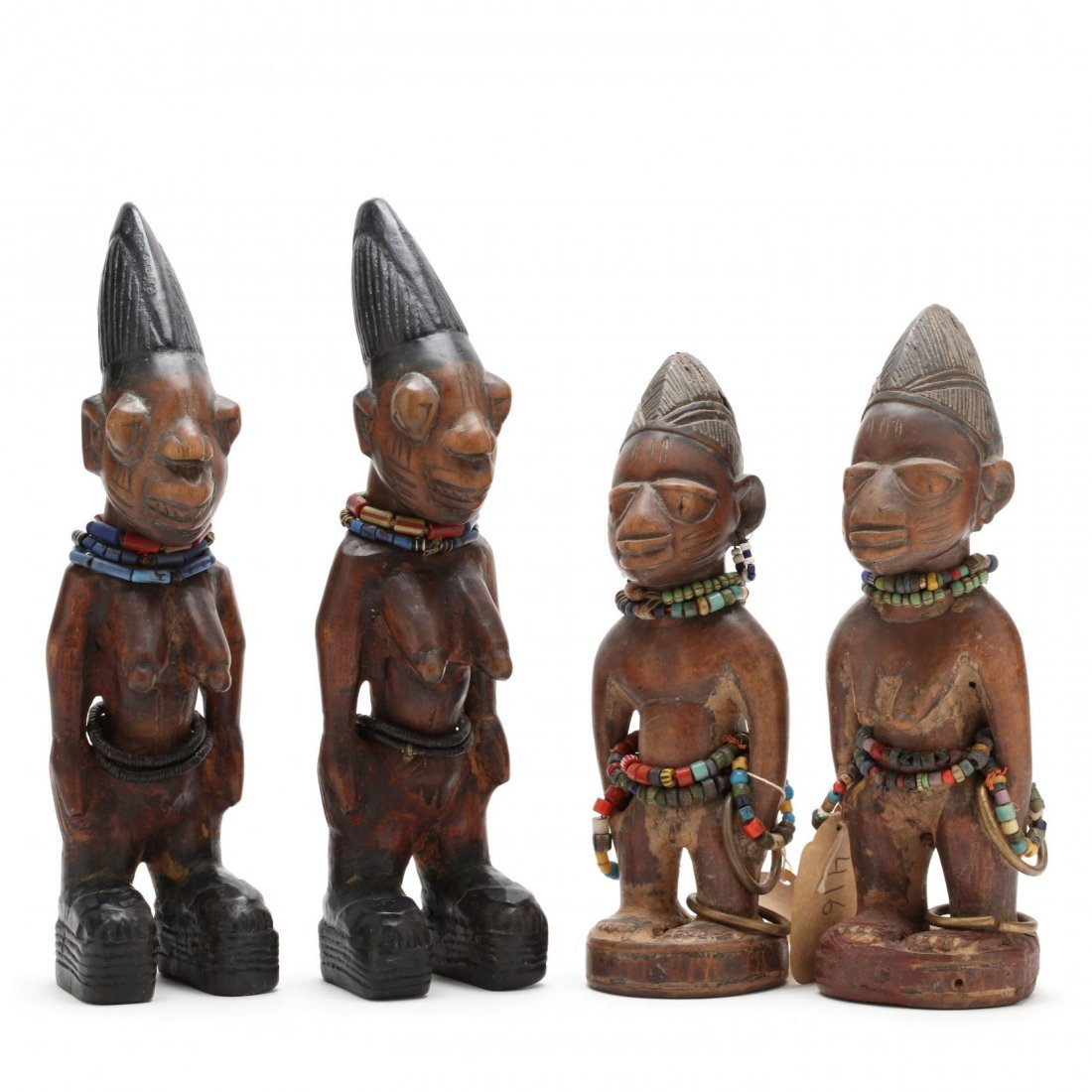 Nigeria, Two Sets of Yoruba Ibedji Twin Figures