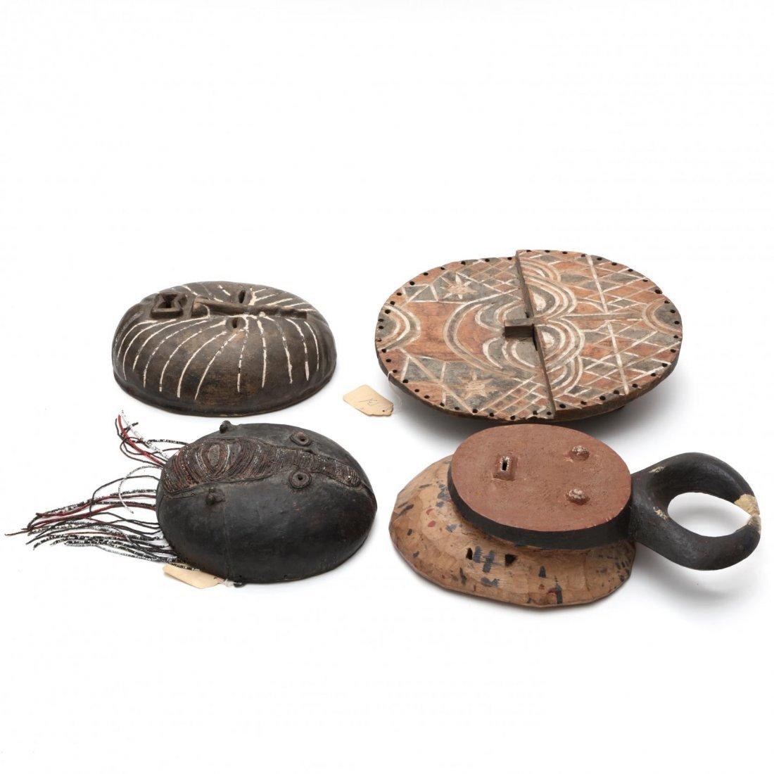 Four Circular Form West African Masks - 2
