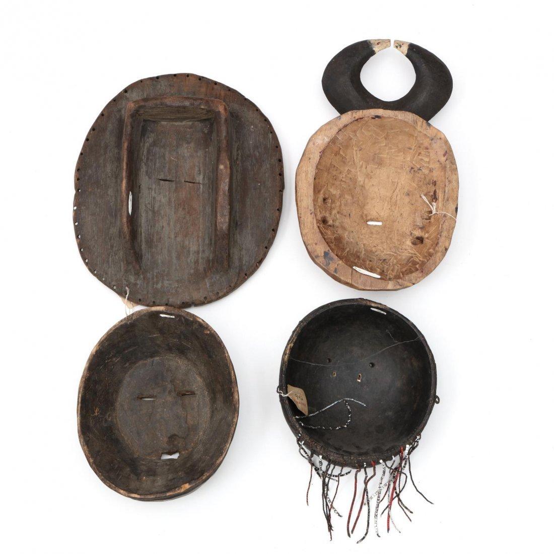 Four Circular Form West African Masks - 3