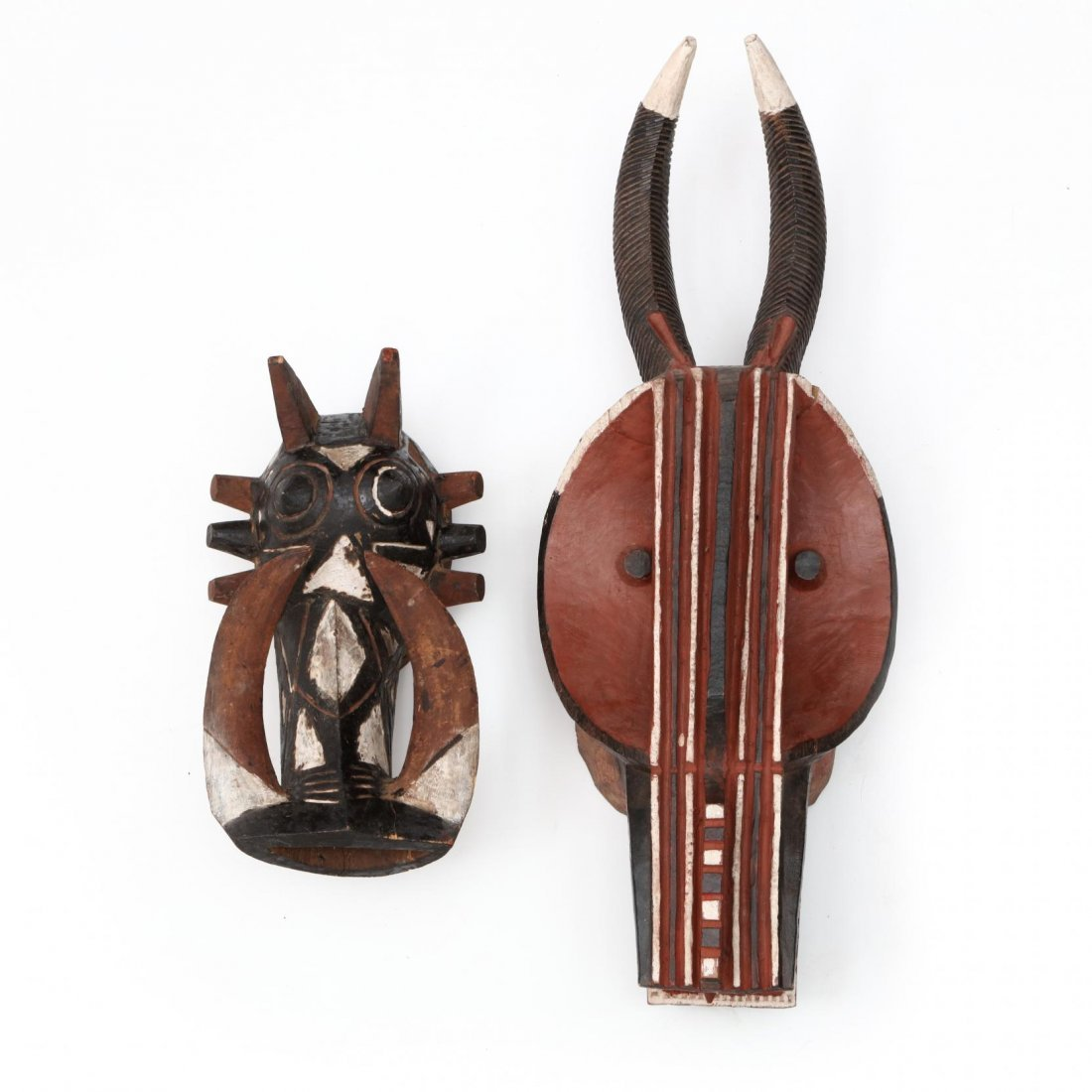 Two West African Mask Headresses