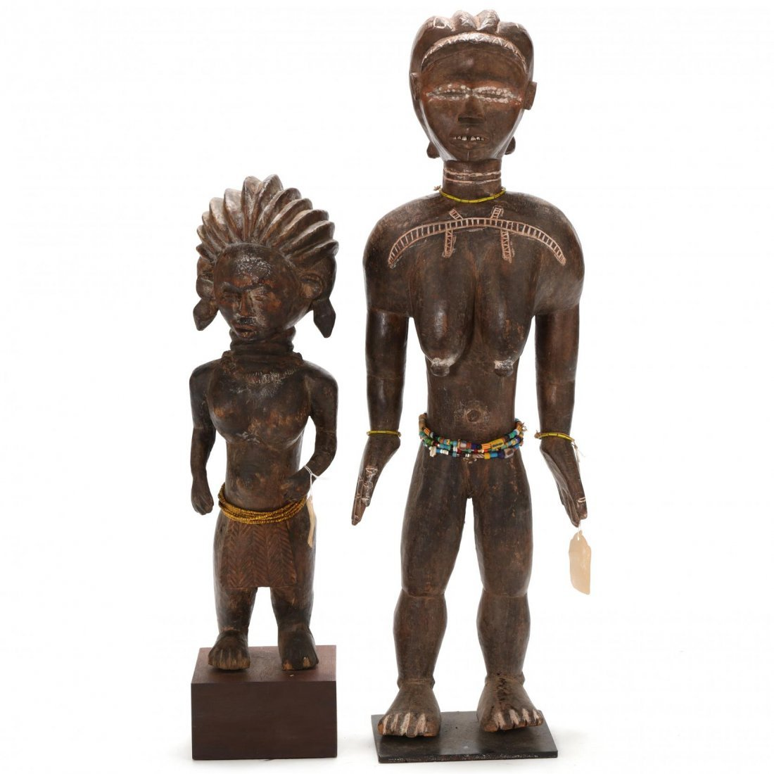 Two West African Standing Female Figures