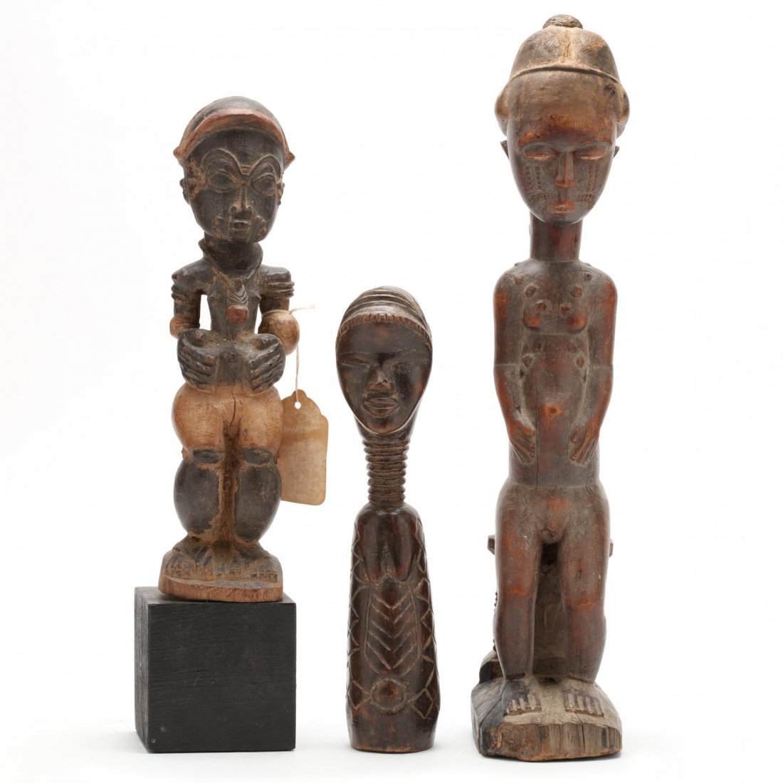 Three West African Figural Wood Carvings
