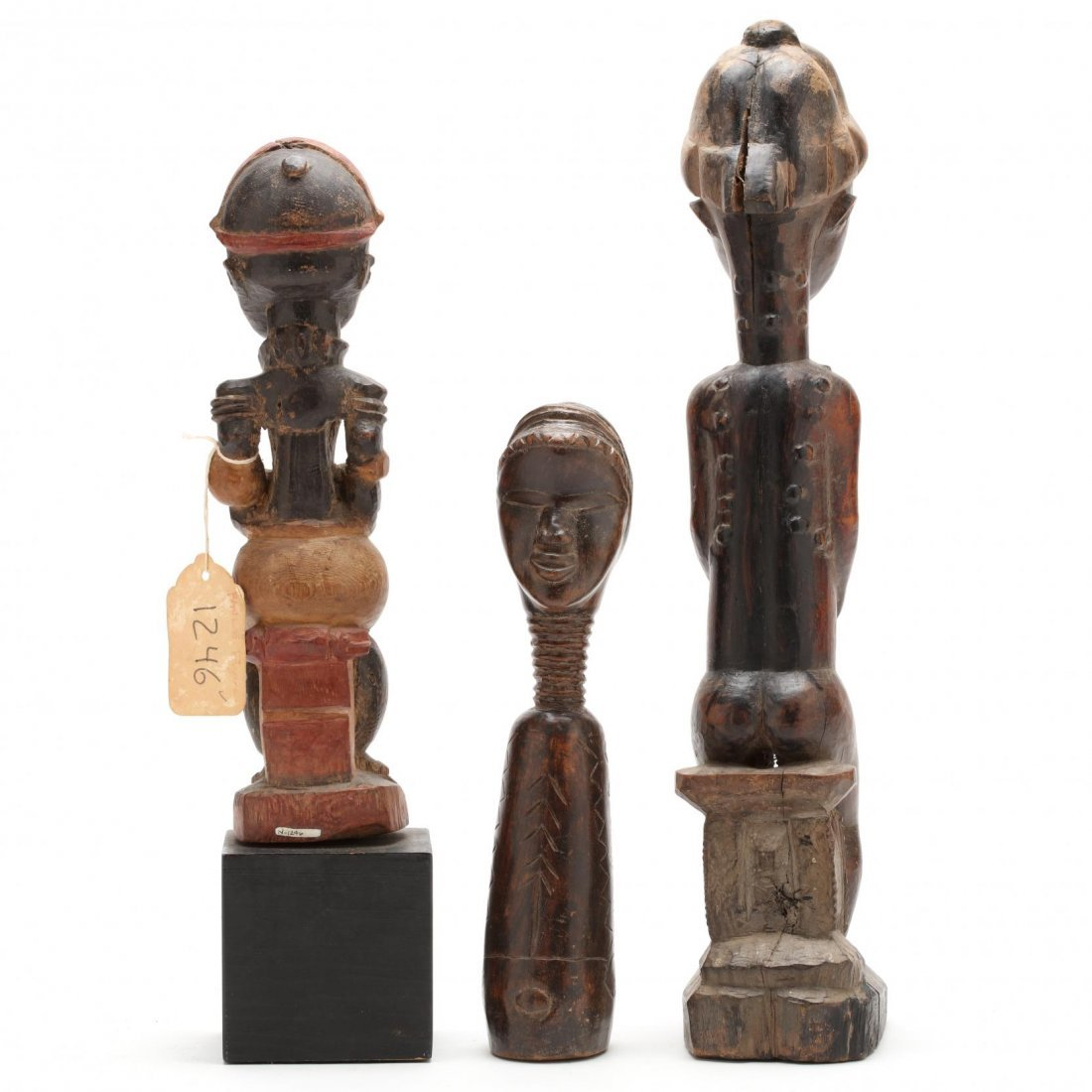 Three West African Figural Wood Carvings - 3