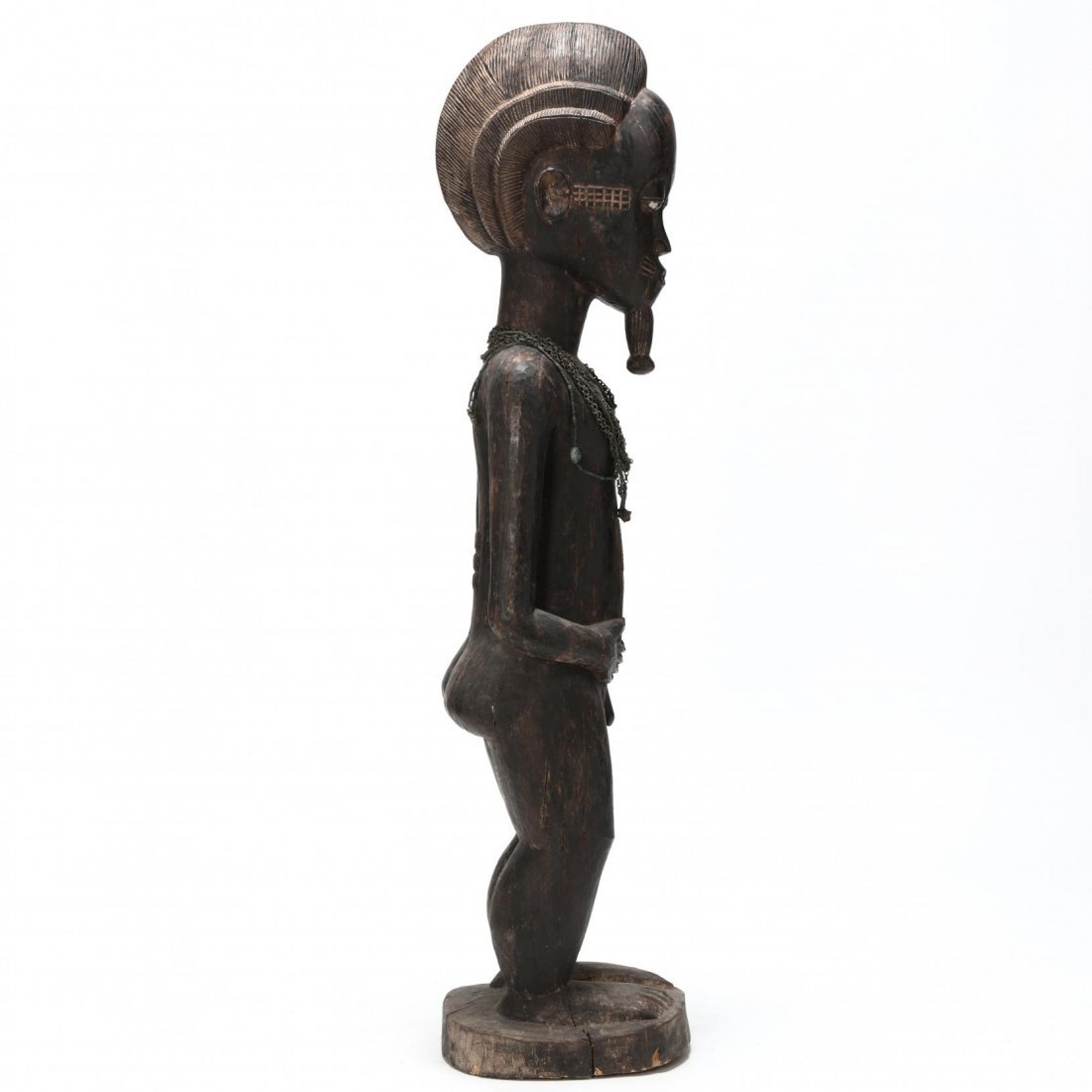 Carved Wooden Standing Male Figure - 2