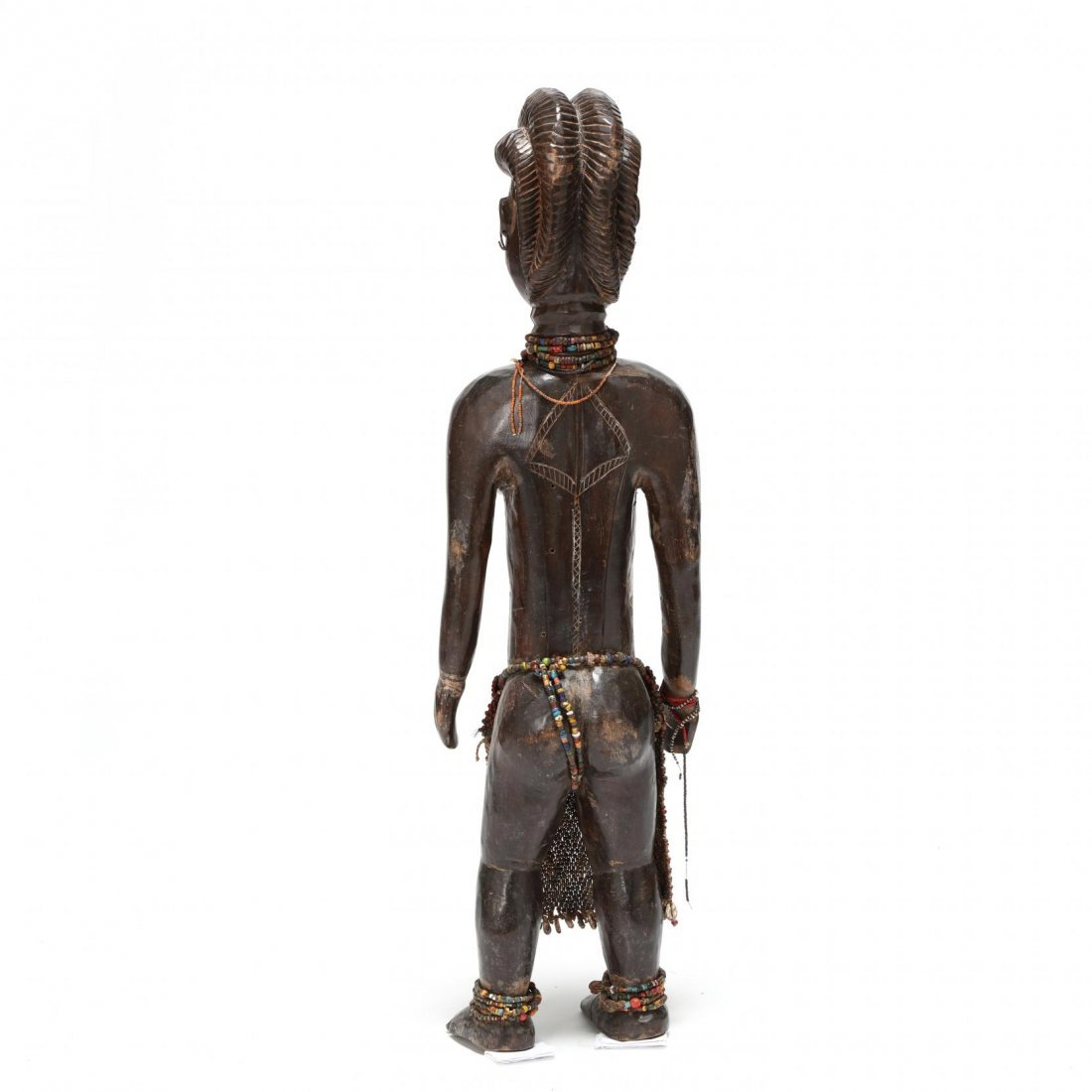 West African Carved Wood Female Figure - 3