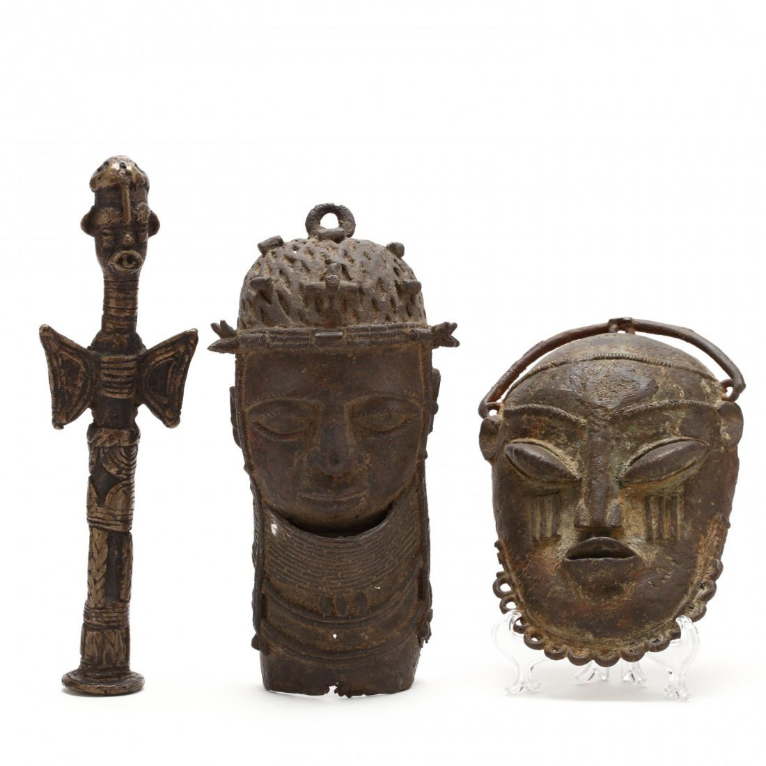 Three West African Bronze Articles