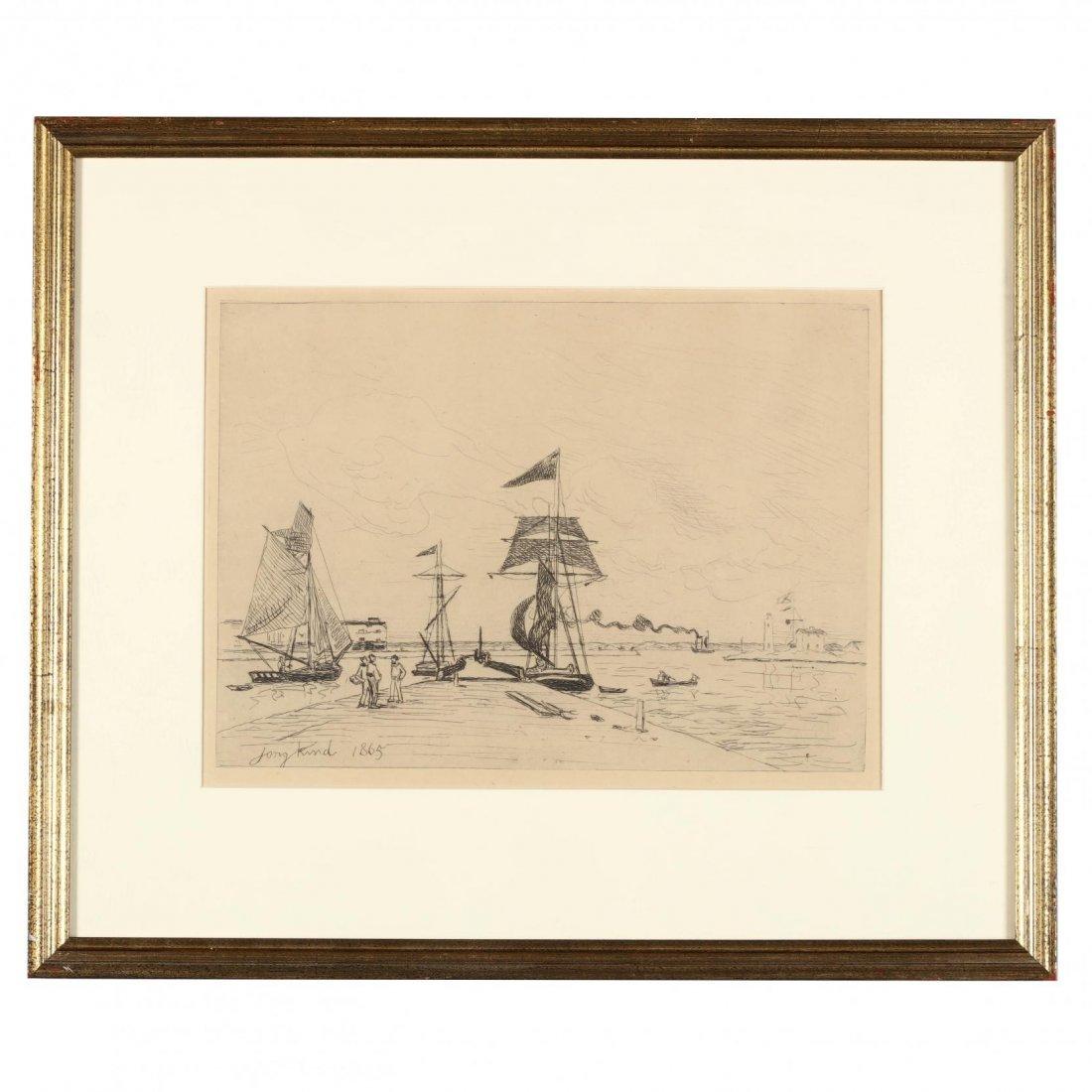 Johan Barthold Jongkind (Dutch, 1819-1891),  Jetée en