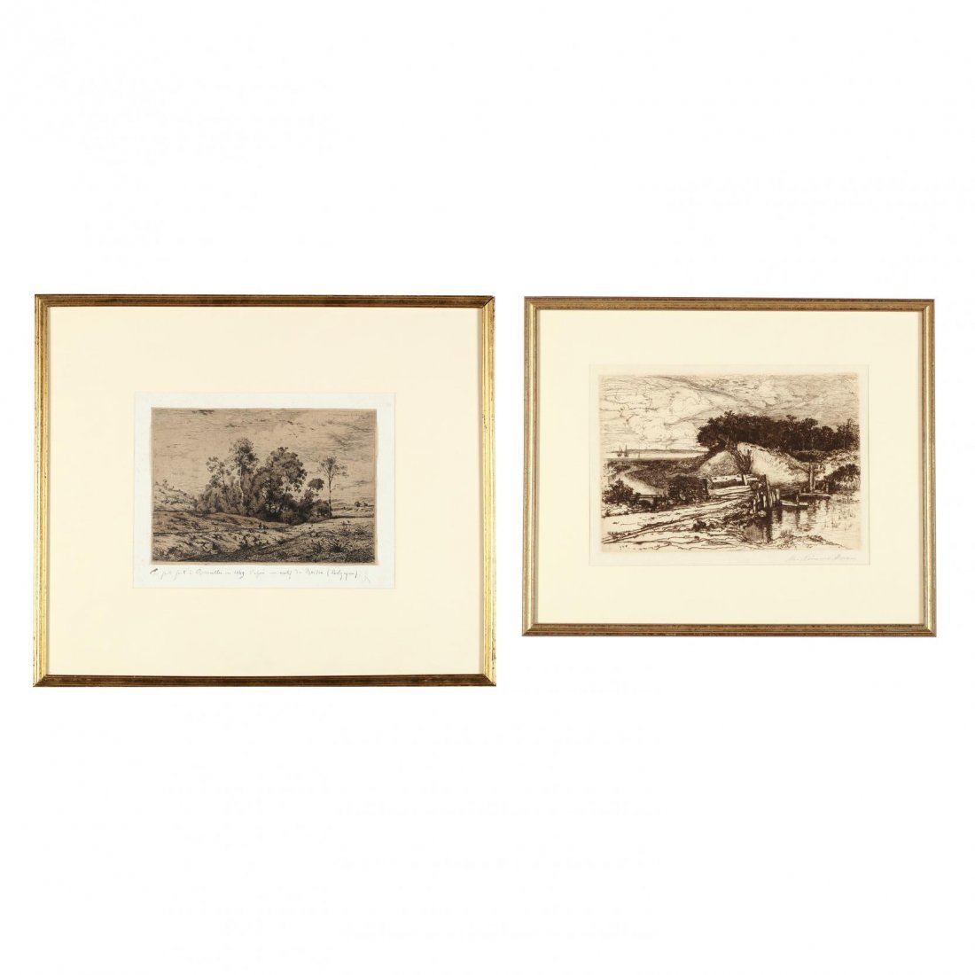 Two 19th-Century Landscapes - Moran and Harpignies
