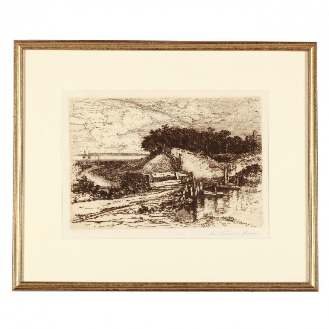 Two 19th-Century Landscapes - Moran and Harpignies - 2