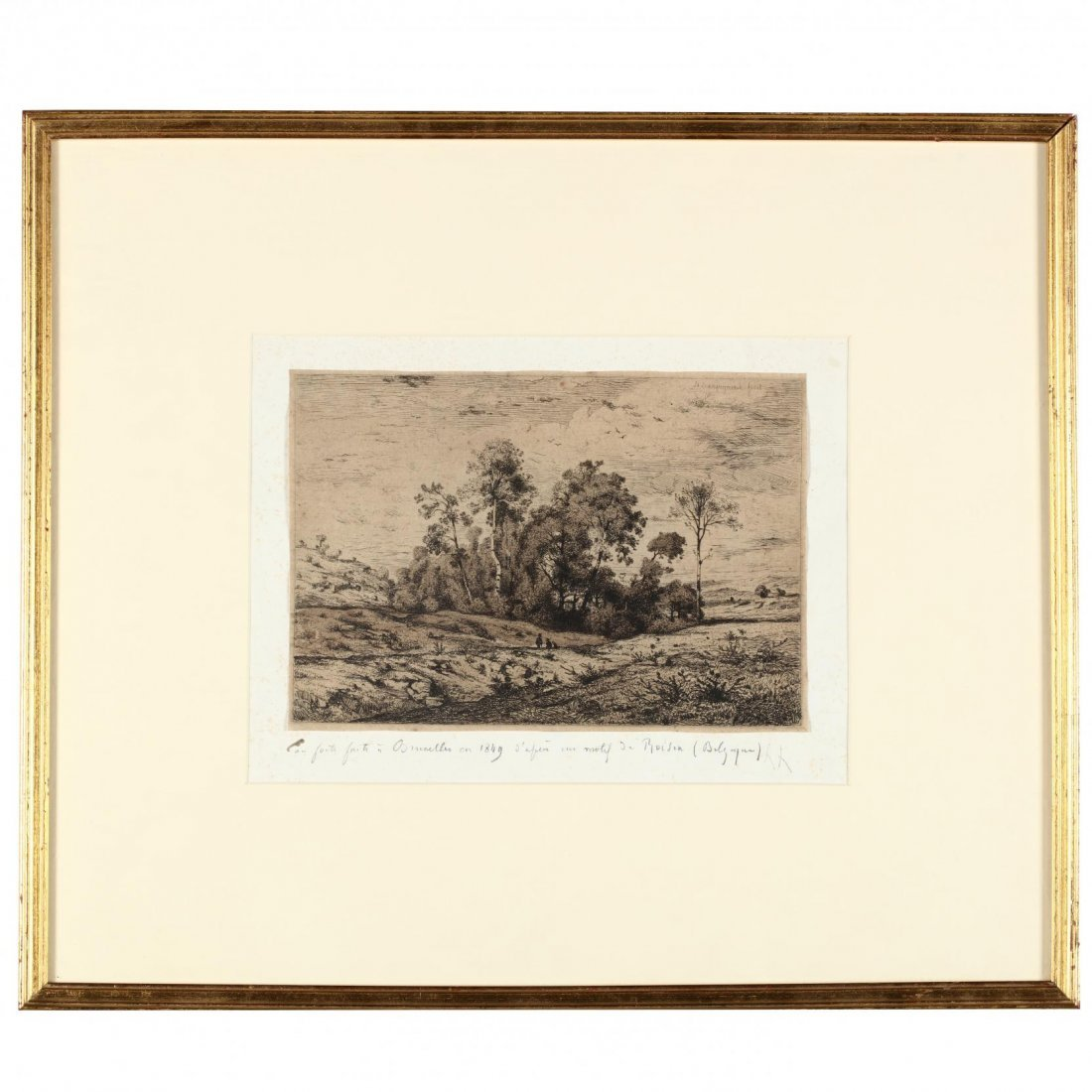 Two 19th-Century Landscapes - Moran and Harpignies - 4