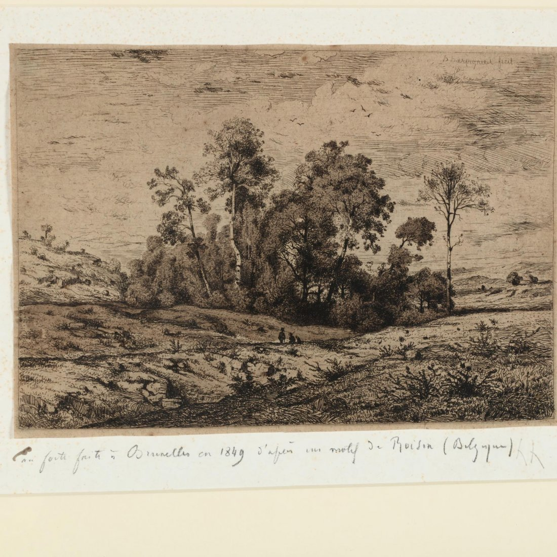 Two 19th-Century Landscapes - Moran and Harpignies - 5