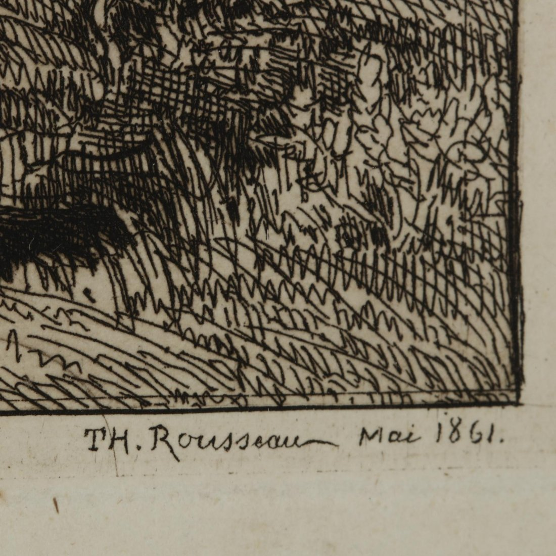 Théodore Rousseau (French, 1812-1867),  Chênes de Roche - 3