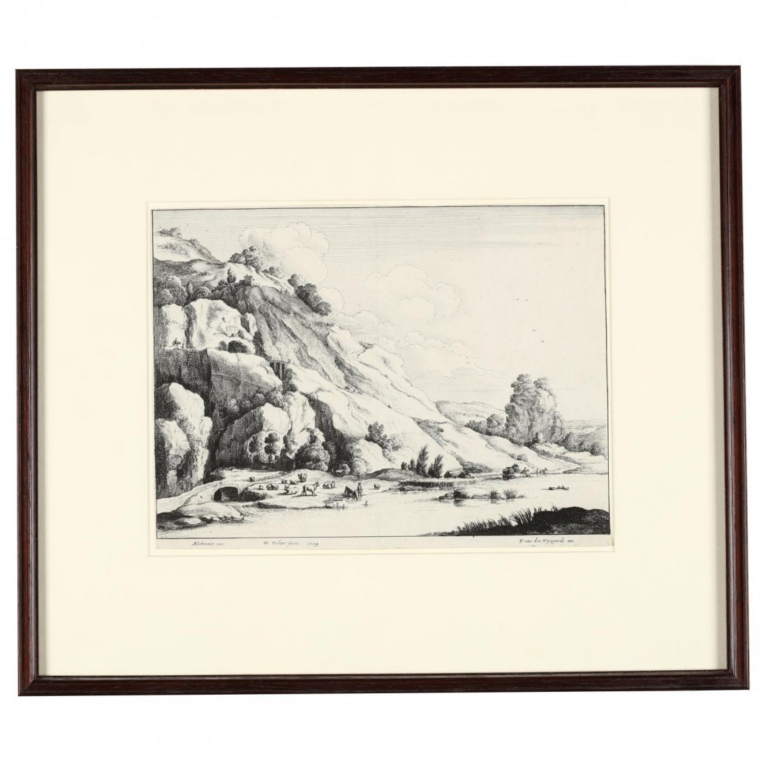 Pair of Continental Landscapes Picturing Cattle and - 2
