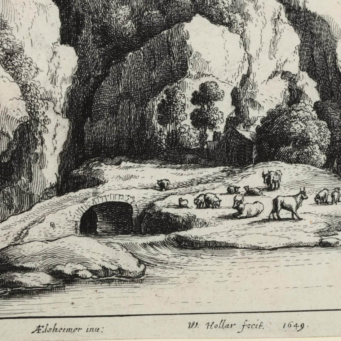 Pair of Continental Landscapes Picturing Cattle and - 3