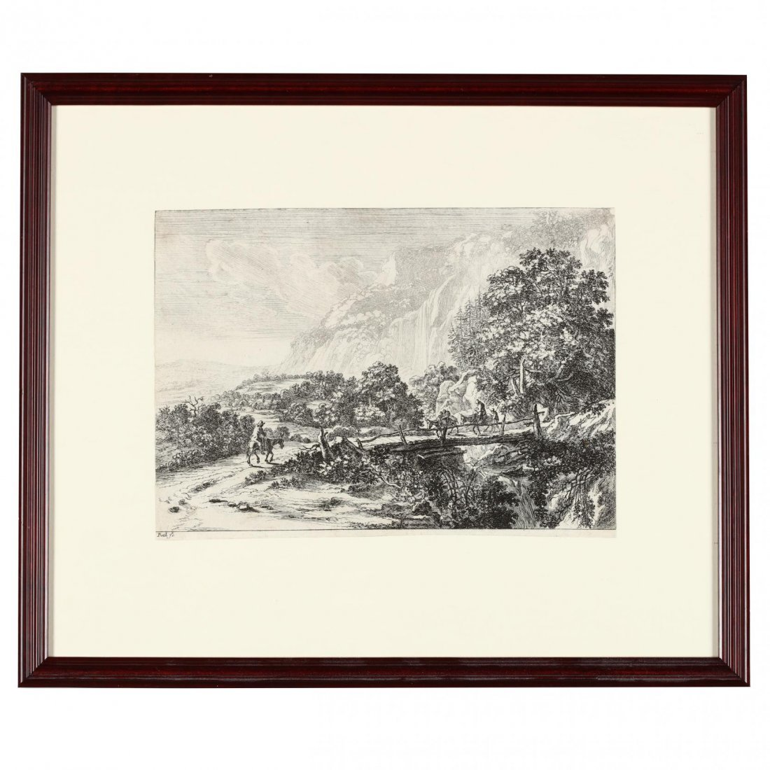Pair of Continental Landscapes Picturing Cattle and - 5